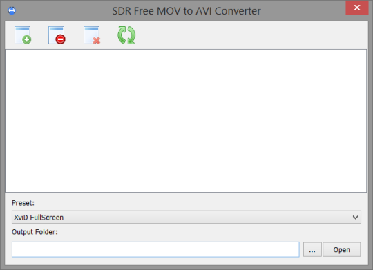 SDR Free MOV to AVI Converter