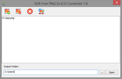 SDR Free PNG to ICO Converter