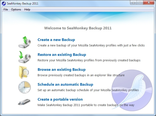 SeaMonkey Backup 2011