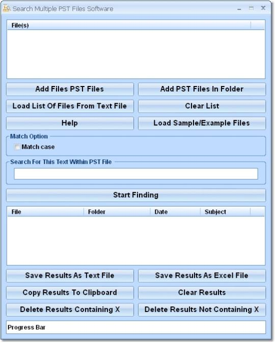Search Multiple PST Files Software