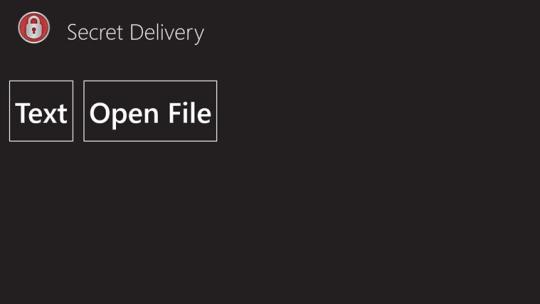 Secret Delivery for Windows 8