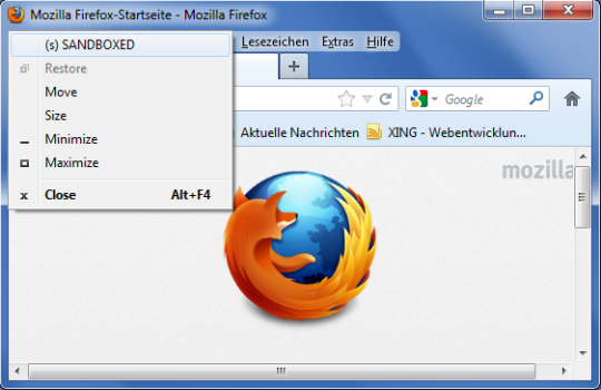 SecuBrowser for Windows 7
