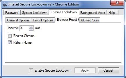 Secure Lockdown Chrome Edition