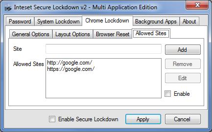 Secure Lockdown Multi Application Edition