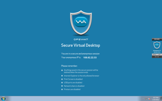 Secure Virtual Desktop