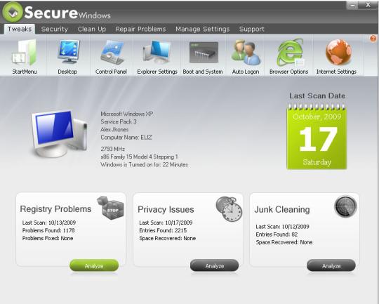 Secure Windows Pro 2010