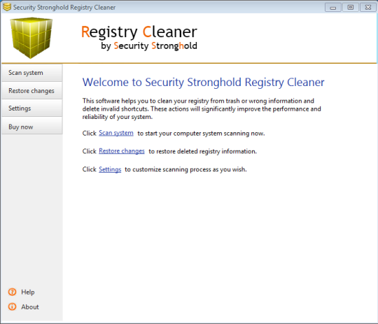 Security Stronghold Registry Cleaner