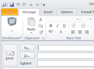 Sendinc Email Encryption for Outlook