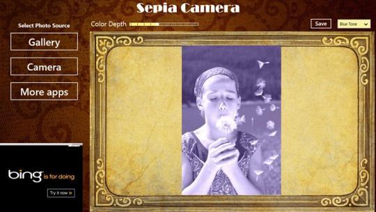 Sepia Camera for Windows 8