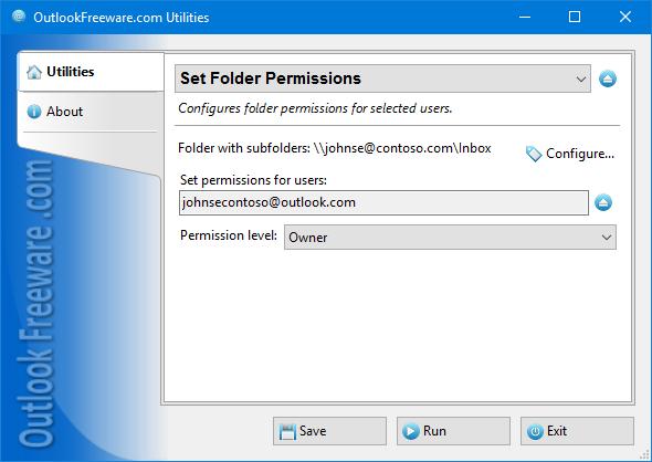 Set Folder Permissions for Outlook