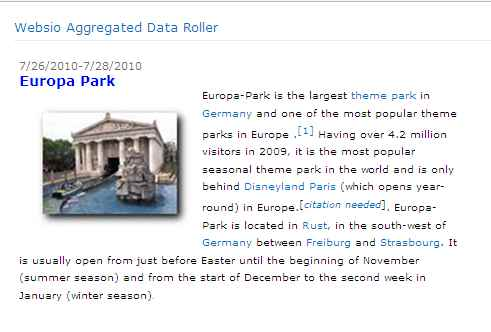 SharePoint Aggregated Data Roller