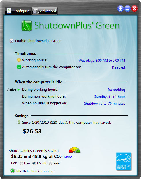 ShutdownPlus Green