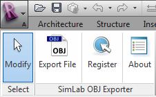 SimLab OBJ Exporter for Revit