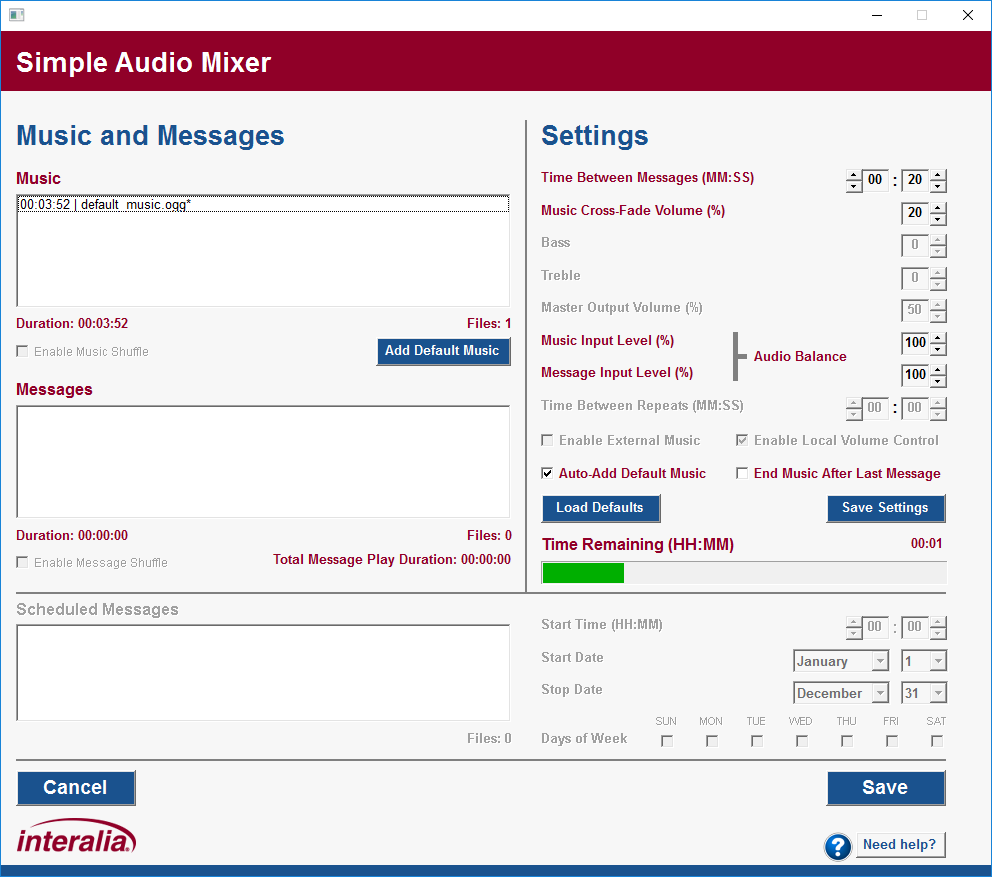 Simple Audio Mixer