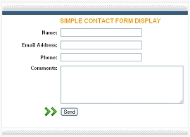 Simple Contact Form with Display
