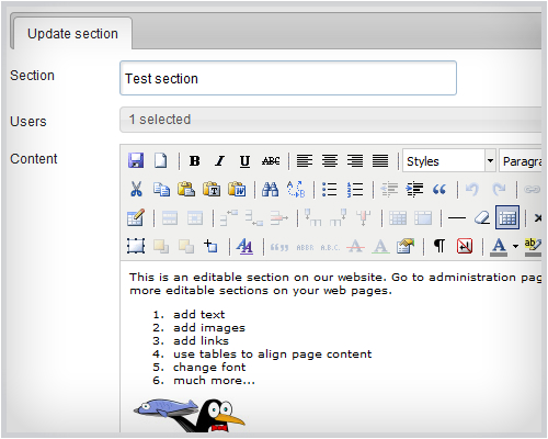 Simple Content Management System