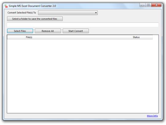 Simple Microsoft Excel Documents Converter