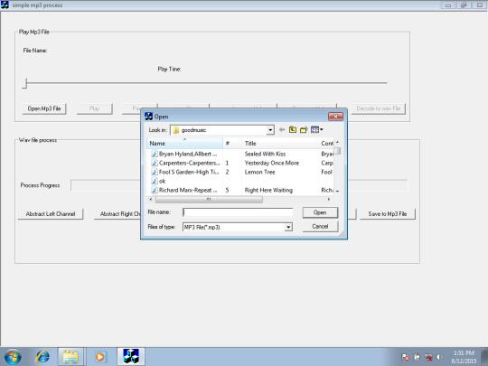 Simple MP3 Process