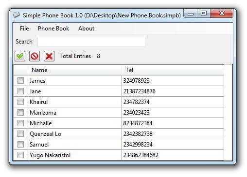 Simple Phone Book