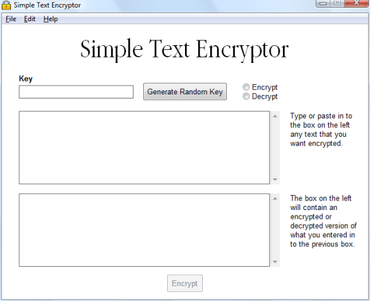 Simple Text Encryptor
