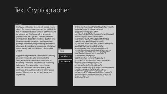 SimpleCryptographer for Windows 8
