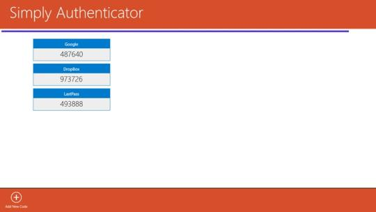 Simply Authenticator for Windows 8