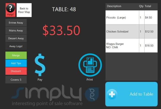 Simply POS for Restaurants
