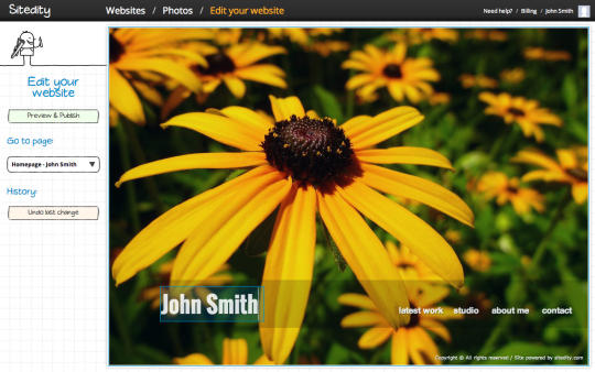Sitedity Portfolio Website Builder