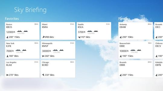 Sky Briefing for Windows 8
