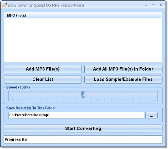 Slow Down Or Speed Up MP3 File Software