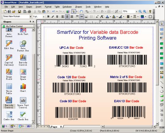 SmartVizor Variable Barcode Label Printing Software