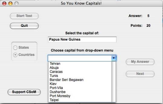 So You Know Capitals
