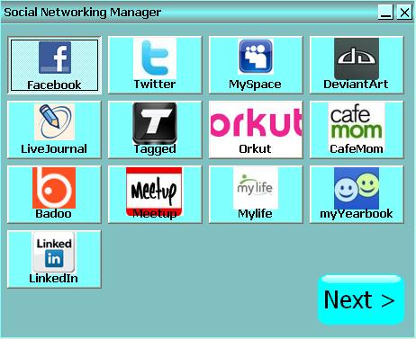 Social Networking Manager