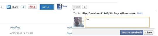 Social Plugins Web Part