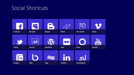 Social Shortcuts for Windows 8