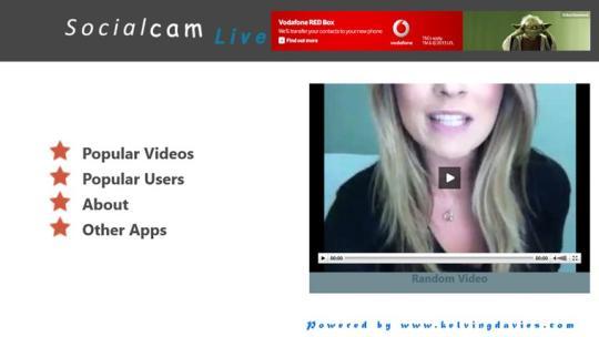 Socialcam Live for Windows 8