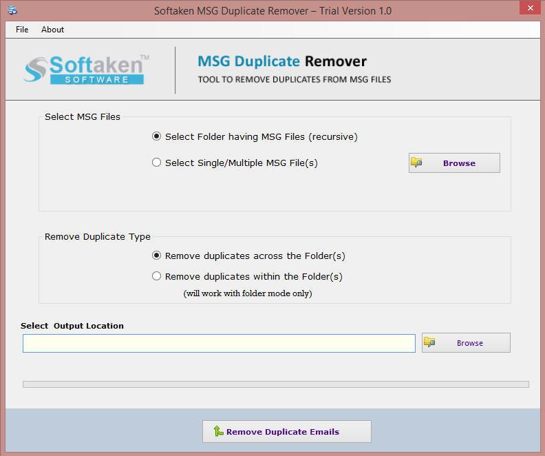 Softaken MSG Duplicate Remover