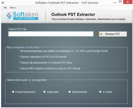 Softaken Outlook PST Extractor