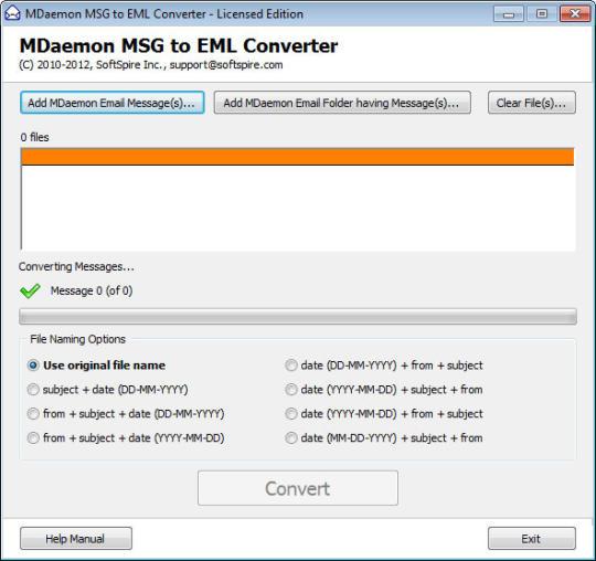 SoftSpire MDaemon MSG to EML Converter