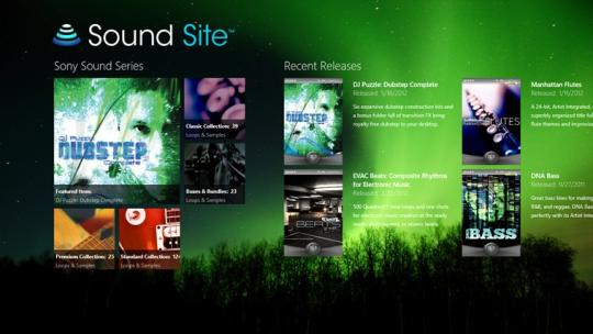 Sony Sound Site for Windows 8