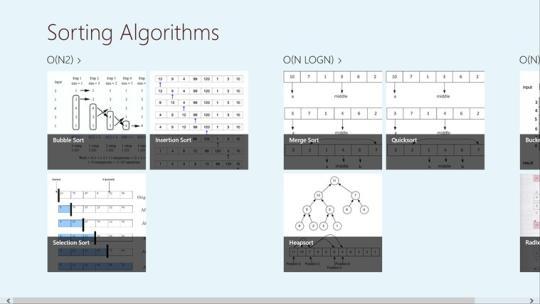 Sorting Algorithms for Windows 8