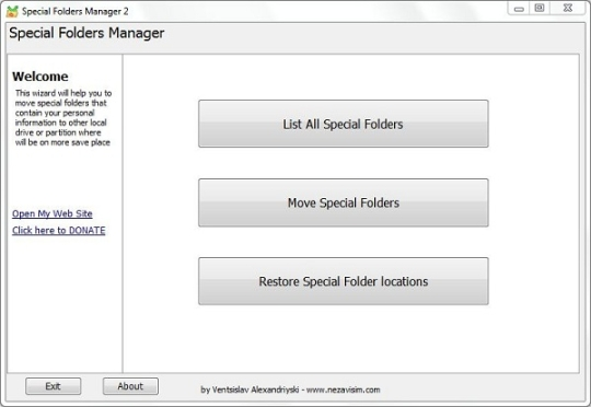 Special Folders Manager (Save Me)