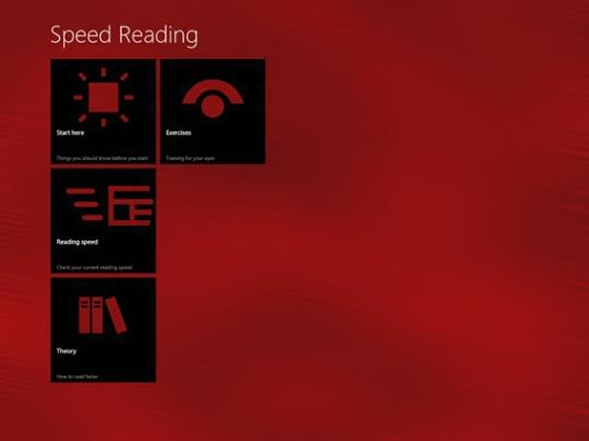 Speed Reading for Windows 8
