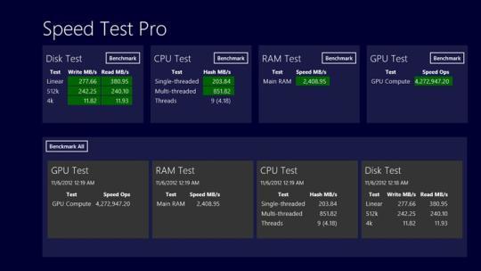 Speed Test Pro for Windows 8