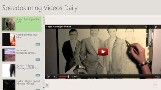 Speedpainting Videos Daily for Windows 8