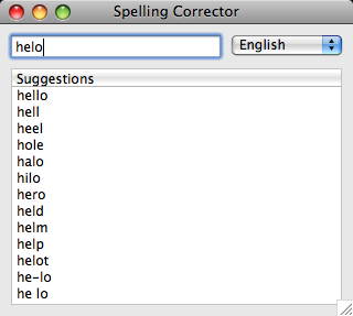 Spelling Corrector