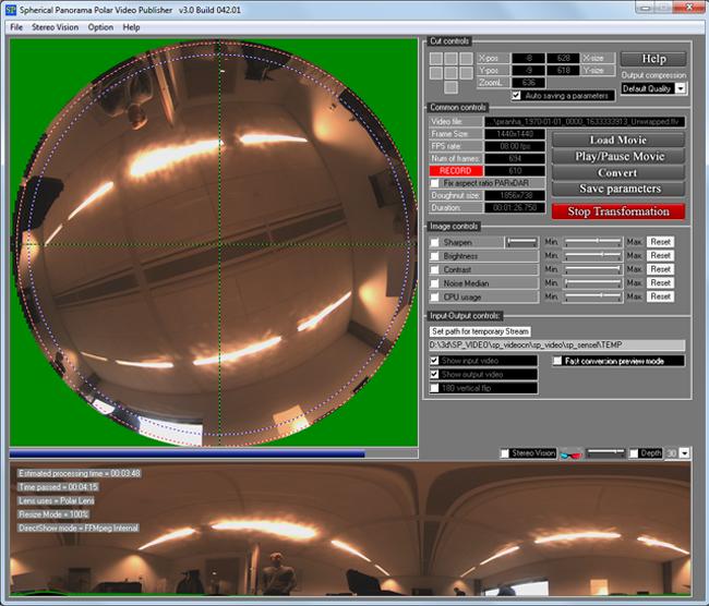 Spherical Panorama Fisheye Polar Video Publisher