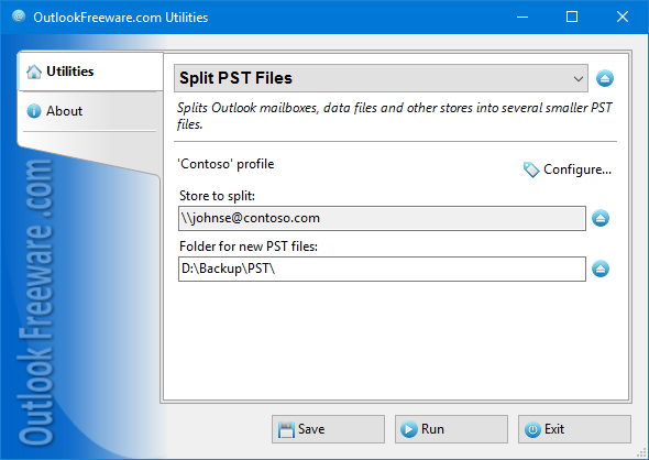 Split PST Files for Outlook