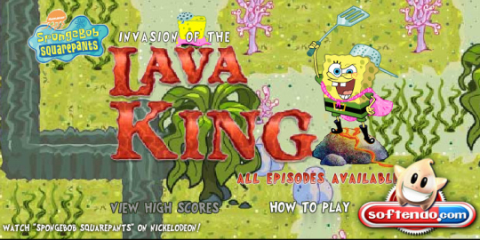 Spongebob Squarepants Lava King