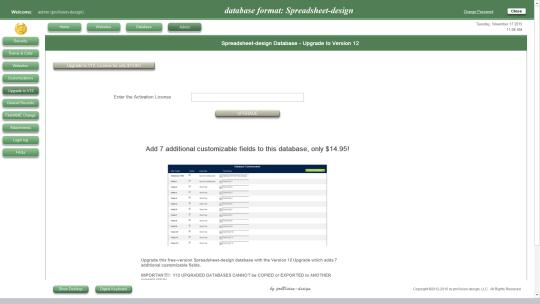 Spreadsheet-design Database